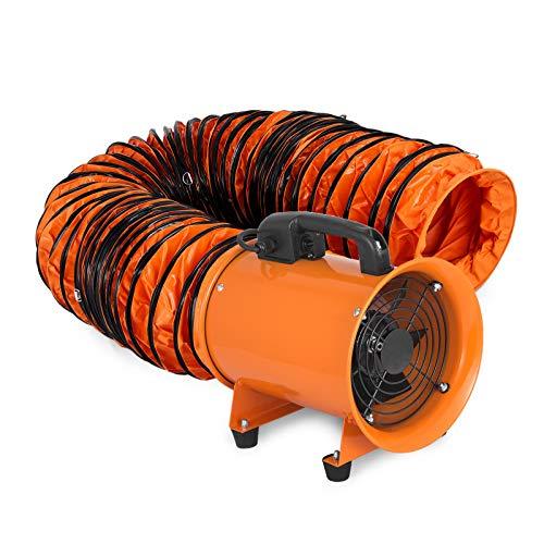 Staub-Dunstabzug 8'' 200mm Lüftungsgebläse mit industriellem Lüftungsventil 5m mit flexiblem PVC-Rohrschlauch für hohe Beanspruchung (200mm mit 5m)