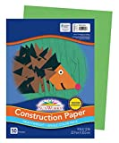 Pacon SunWorks Construction Paper, 9-Inches by 12-Inches, 50-Count, Bright Green (9603)