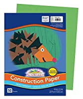 [Pacon]Pacon 9 x 12 Inches 58Pound Construction Paper, Bright Green, 50 Sheets per Pack PAC9603 [並行輸入品]