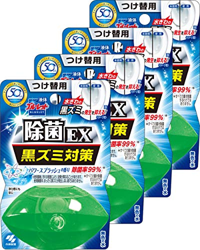 小林製薬 液体ブルーレットおくだけ除菌EX トイレタンク芳香洗浄剤 詰め替え用 パワースプラッシュ 70ml×4個