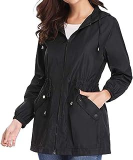 BESPORTBLE Women Outdoor Waterproof Raincoat Packable Lightweight Rain Jacket Hooded Outerwear Trench Coat Travel Windbrea...