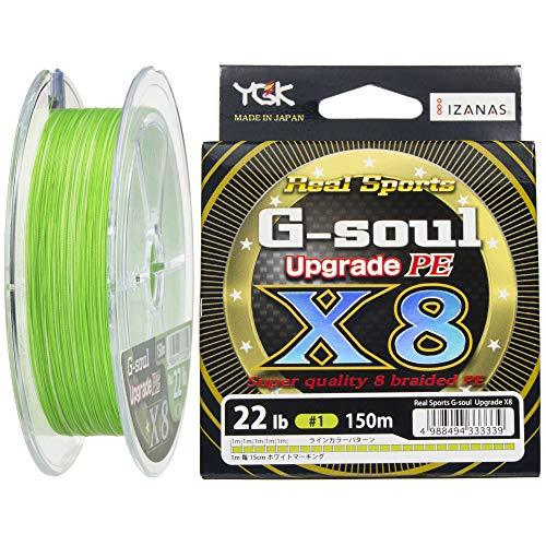 よつあみ(YGK) PEライン Gソウル X8 アップグレード 150m 1号 22lb 8本 グリーン