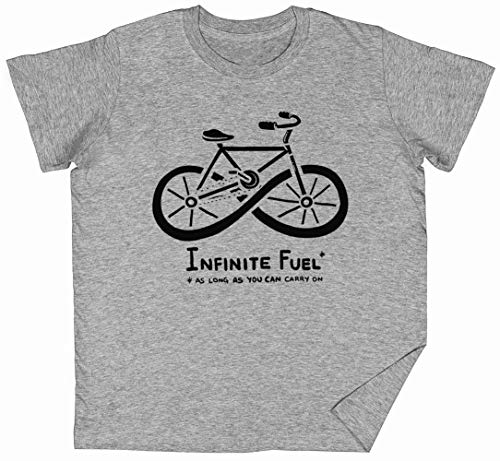 Infinite Fuel Gris Niños Chicos Chicas Camiseta Unisexo Grey Men's T-Shirt tee