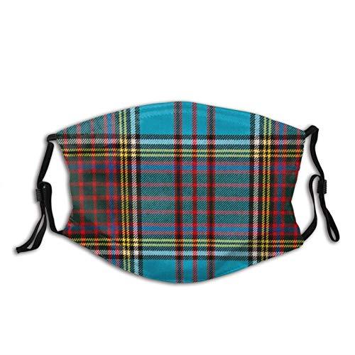 KINGAM Anderson Modern Tartan - Polaina para el cuello facial y transpirable, resistente al viento, transpirable, pesca, senderismo, correr, ciclismo