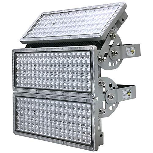 KeKeou 300W LED Flood Light, LED Stadium Lights, Outdoor led Flood Lights, 30000lm 6500K IP67 Waterproof Stadium Flood Light Outdoor for Playground, Basketball, Stadium