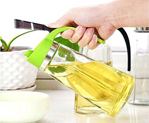 HCJTLP FJXLZ® Cuchara líquida Grande del Aceite de Cristal 500ml Verde Pequeño...