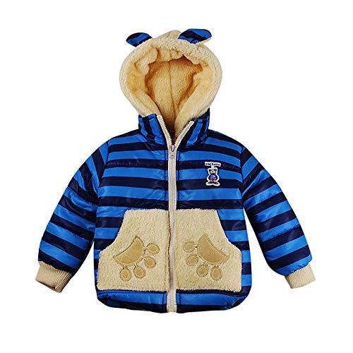 Manteaux bébé, YUYOUG Bébé Fille Garçon Mixte Ours Veste Polaire Automne Hiver Hooded Manteau Manteau Épais Peluche Chaud Vêtements Parka Enfant (3-4 Ans, Blue)