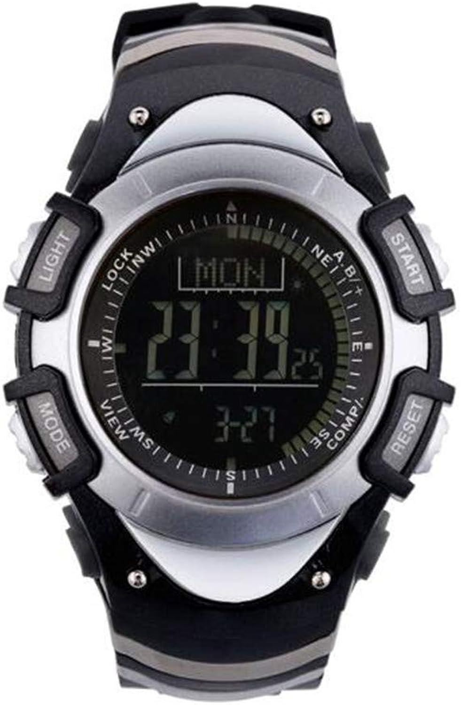 Multifunctional Outdoor Sports Mountaineering Watch, Compass Height Measurement Luminous Waterproof Wearable Smart Watch