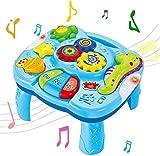 Baby musikspielzeug - Musical Lerntisch Babyspielzeug 2 in 1 Früherziehung Spielzeug Music Activity Center Tisch für Kleinkinder Kleinkind Jungen Mädchen ab 6 Monaten