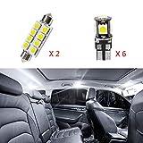 Cobear 12V Blanc Pas De Polarité LED Ampoules de Voiture Intérieur Lampe pour XC60 2010-2015 Remplacement Lampe kit 8pcs