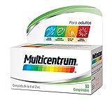 Multicentrum Adulto  Complemento Alimenticio con 13 Vitaminas y 11 Minerales, Con Vitamina B1, Vitamina B6, Vitamina B12, Hierro, Vitamina D, Vitamina C,90 Comprimidos