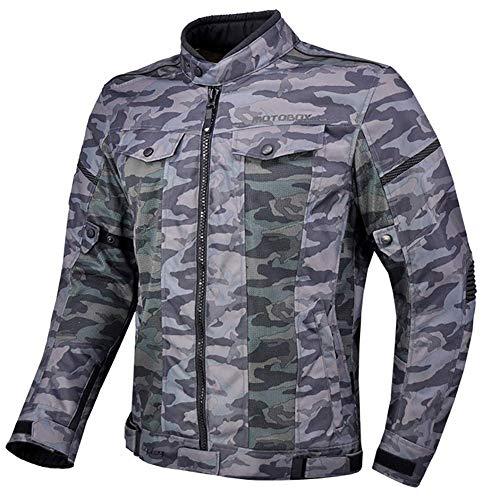 LALEO Couleur de Camouflage Veste de Moto, Unisexe Maille Respirante Imperméable Coupe-Vent Réglable Grande Taille Printemps été Femme Homme,XL