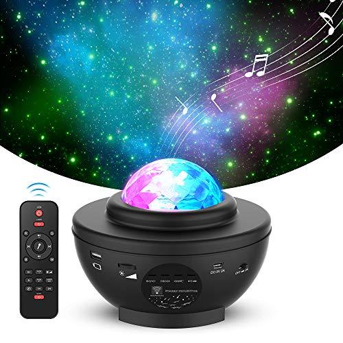Sternenhimmel Projektor,iThrough Nebu Licht mit Musik,Sternenprojektor mit Bluetooth-Lautsprecher für Kinder & Erwachsene,Nachtlicht für Schlafzimmer/Spielzimmer/Heimparty