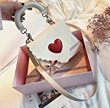 Mdsfe Sweet Cute Girl Handbags 2020 Bolso de diseñador de Moda para Mujer Bolso de Cuero de PU Mujer Bolso de Hombro con Asas de Lazo Beige, 20 X 7 X 15 CM