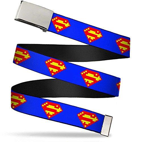 Buckle-Down Unisex, Erwachsene Web Belt Superman 1.25