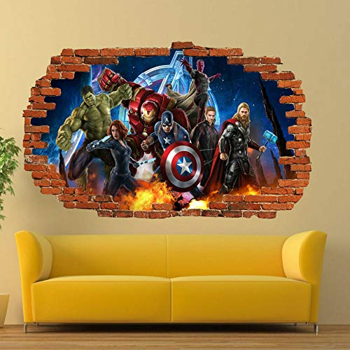 ioljk Pegatinas de Pared 3D Super Era Poster Decal Mural