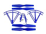 Fytoo Parts for SYMA X5UW X5UC Four-axis Aircraft Protection Ring & Rropeller & Landing Gear Spare Parts Blue Accessories