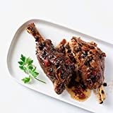 Cuisine Solutions - Fully Cooked Sous Vide - Lamb Shank with Portobello & Red Wine Sauce (Two - 10 Ounce Shanks) (2 Servings) - Gourmet Meal Starter