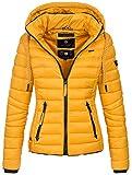 Navahoo Damen Jacke Steppjacke bergangsjacke gesteppt Stepp Frhjahr [B650-Lulana-Gelb-Gr.S]