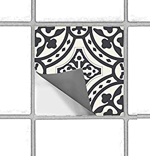 Bleucoin Portugal Terracotta Peel and Stick Tile Stickers for Kitchen Backsplash Bathroom Floor Wood Glass Metal Linoleum Waterproof Removable Eco Friendly Decals,Vinyl Murals (12, 6