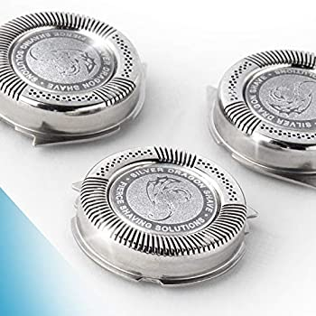 Silver Dragon Shave SH50 Norelco Replacement Heads - SH50/52 Shaving Blades Compatible with Philips Norelco Series 5000 6000 and Aquatouch Electric Shavers Pack of 3