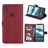 Docrax Coque pour Motorola Moto P30 Note/One Power, PU Etui Housse Cuir Portefeuille, étui à Rabat...