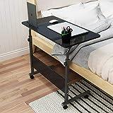 soges Table pour Ordinateur Portable roulettes Support 80 x 40 cm Table d'appoint...
