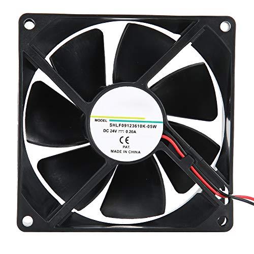 Ventilador de refrigeración para convertidor de frecuencia / soldadora eléctrica, ventilador de bolas dobles de 24 V, 0,20 A, 9 cm, con PBT + material de fibra de vidrio, silencio ultrabajo, fácil de