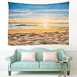 KHKJ 3D Strand Sonne Wandbehang Tapisserie Sommer Matratze Tagesdecke Home Art Deco Yoga Matte Strand Wurf Handtuch A1 200x180cm