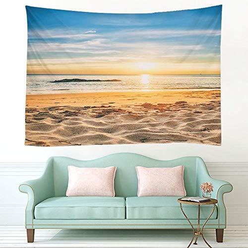 KHKJ 3D Strand Sonne Wandbehang Wandteppich Sommer Matratze Tagesdecke Home Art Deco...