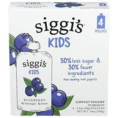 Siggis Blueberry Lowfat Yogurt, 14 Ounce pouch -- 6 per case.