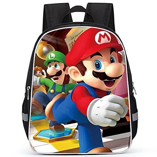 Miotlsy Super Mario Mochila Escolar ZSWQ-Super Mario mochila de viaje,Mochila Ligera para Niños para Estudiantes de Primaria Infantil para Colegio Viajes, Regalos para Niñas y Adolescentes