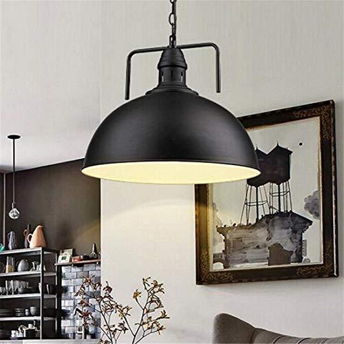 Casa perfecte hanglamp, 30 cm, van metaal, antieke stijl, voor Edison-gloeilamp, voor keuken, zwart