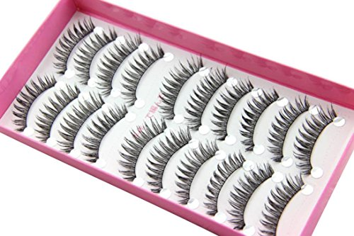 OVERMAL 10 paires de mode Maquillage naturel à long faux cils épais