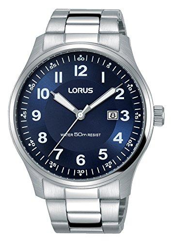 Lorus Klassik Herren-Uhr Edelstahl mit Metallband RH937HX9