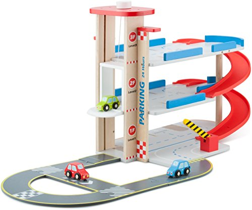 New Classic Toys Parking Garage with Track And 3 Cars, Multicolore, 11040