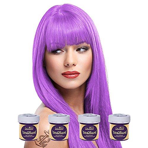 4 x La Riche Directions Semi-Permanent Hair Colour Dye Box Of Four-Lavender