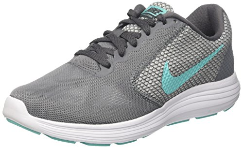 Nike Damen Revolution 3 Laufschuhe, Grau (Cool Grey/Aurora Green-Dark Grey White), 41 EU
