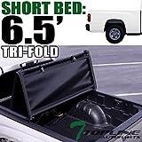 Topline Autopart Tri Fold Soft Vinyl Truck Bed Tonneau Cover For 97-04 Dodge...