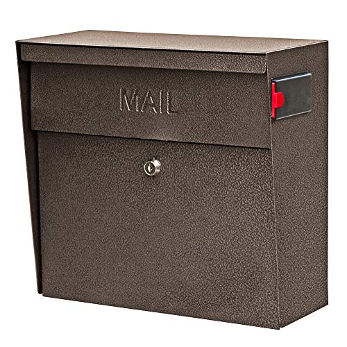 Mail Boss 7164 Metro, Bronze High Capacity Wall Mounted Locking Security Mailbox