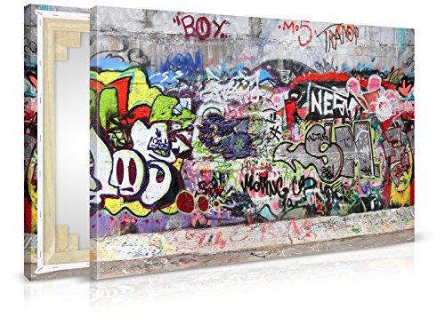XXL-Tapeten Leinwandbild Urban Graffiti - Fertig Aufgespannt - Gemälde, Kunstdruck, Wandbild, Keilrahmen, Bild auf Leinwand von Trendwände - Format: 60x40cm, Standard:...
