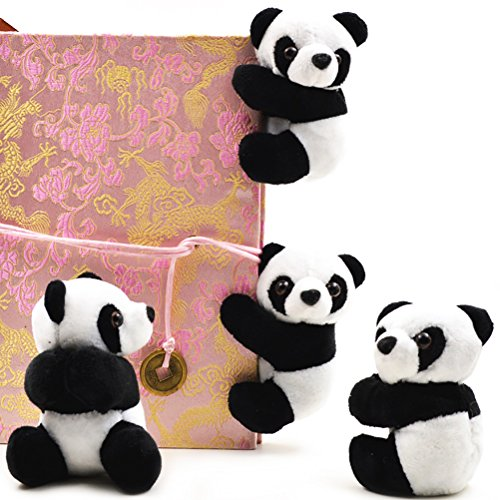 Yiphates 2Pcs Plush Animal Clip Clip-On Critter Panda Clip Note Clip Stand Photo Holder Stand Memo Clip for Home Office Use