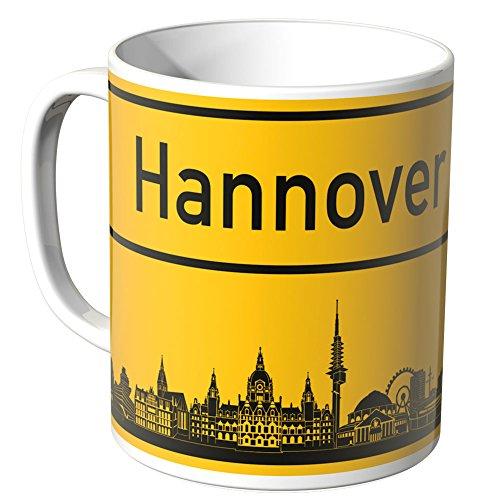 Wandkings® Tasse, Skyline Hannover - Weiß