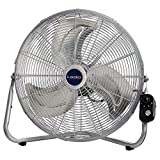 Lasko 2265QM 20-Inch Max Performance High Velocity Floor/Wall mount fan, Silver (Renewed)