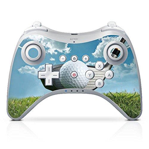 DeinDesign Skin kompatibel mit Nintendo Wii U Pro Controller Folie Sticker Golf Golfschläger Sport