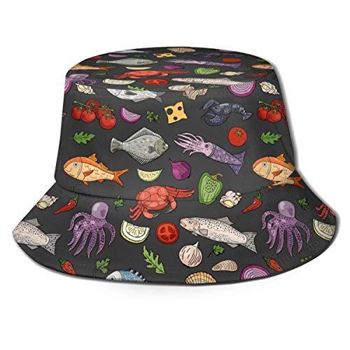 Tedtte Crabe Poisson Nourriture seiche Art Impression...