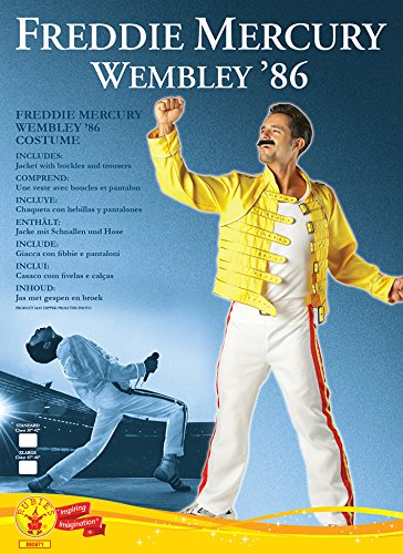 Rubies Freddie Mercury Fancy Dress Costume - Standard size ...