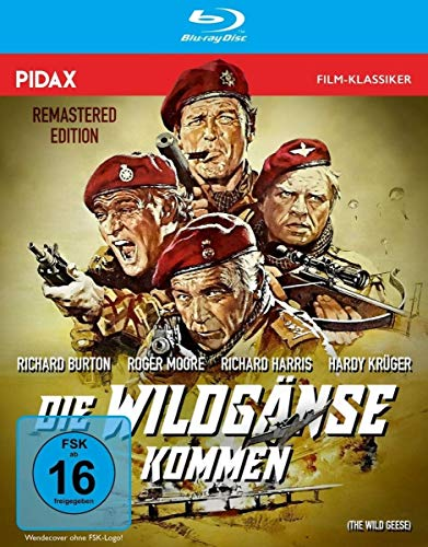 Die Wildgänse kommen - Remastered Edition (The Wild Geese) / Spektakuläre Söldner-Action mit Weltstarbesetzung in brillanter HD-Qualität (Pidax Film-Klassiker) [Blu-ray]