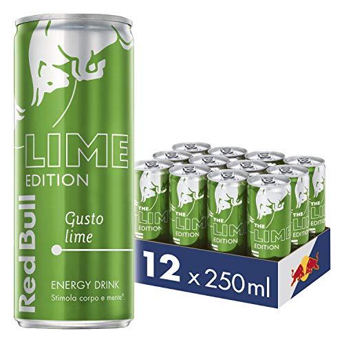 Red Bull RB205543 Energy Drink, Gusto Lime, 250 ml (12 Lattine)