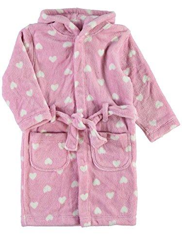 NAME IT KIDS Nitvaluta Mädchen Morgenmantel Bademantel mit Kapuze (128 (Herstellergröße: 122-128), Pink Nectar)